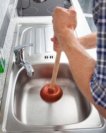 Fix clogged kitchen sink drain